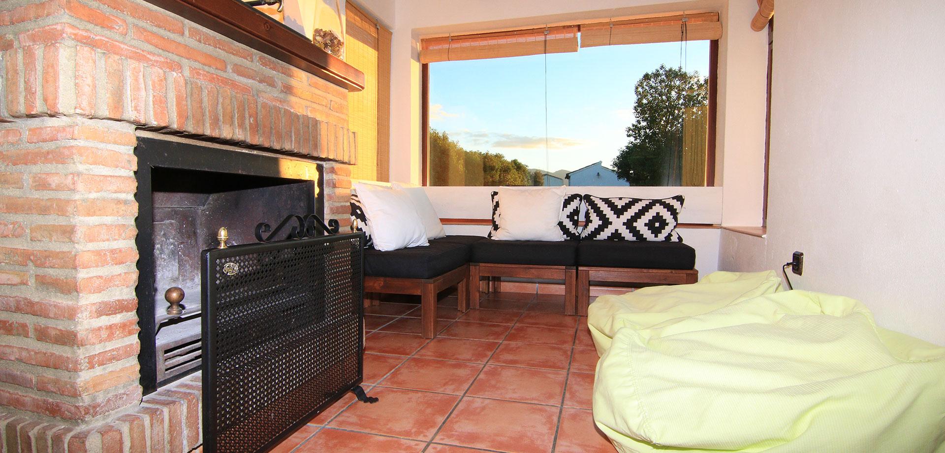 casa rural con calefactor